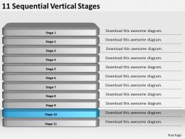 2013_business_ppt_diagram_11_sequential_vertical_stages_powerpoint_template_Slide11