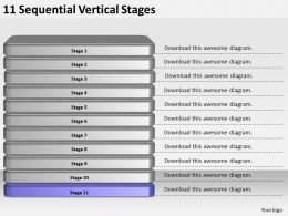 2013_business_ppt_diagram_11_sequential_vertical_stages_powerpoint_template_Slide12
