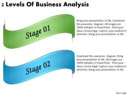 2013 Business Ppt Diagram 2 Levels Of Business Analysis Powerpoint Template