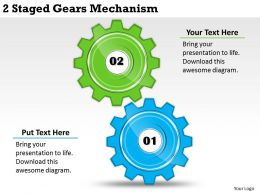2013 Business Ppt Diagram 2 Staged Gears Mechanism Powerpoint Template