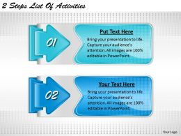 2013 Business Ppt Diagram 2 Steps List Of Activities Powerpoint Template