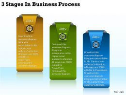 2013 Business Ppt Diagram 3 Stages In Business Process Powerpoint Template