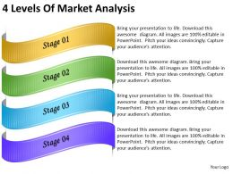 2013 Business Ppt Diagram 4 Levels Of Market Analysis Powerpoint Template