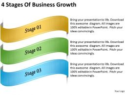 2013 Business Ppt Diagram 4 Stages Of Business Growth Powerpoint Template