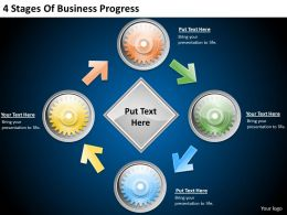 2013 Business Ppt Diagram 4 Stages Of Business Progress Powerpoint Template