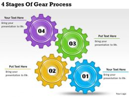 2013 Business Ppt Diagram 4 Stages Of Gear Process Powerpoint Template