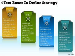 2013 Business Ppt Diagram 4 Text Boxes To Define Strategy Powerpoint Template