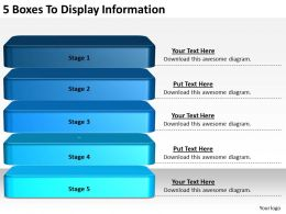 2013 Business Ppt Diagram 5 Boxes To Display Information Powerpoint Template