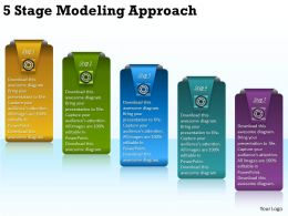2013 Business Ppt Diagram 5 Stage Modeling Approach Powerpoint Template