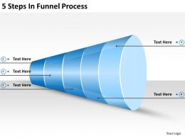 2013 Business Ppt Diagram 5 Steps In Funnel Process Powerpoint Template