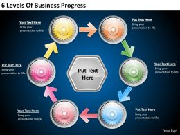 2013 Business Ppt Diagram 6 Levels Of Business Progress Powerpoint Template