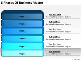 2013 Business Ppt Diagram 6 Phases Of Business Matter Powerpoint Template