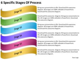 2013 Business Ppt Diagram 6 Specific Stages Of Process Powerpoint Template