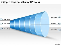2013 Business Ppt Diagram 6 Staged Horizontal Funnel Process Powerpoint Template