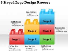 2013 Business Ppt Diagram 6 Staged Lego Design Process Powerpoint Template