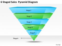 2013 Business Ppt Diagram 6 Staged Sales Pyramid Diagram Powerpoint Template