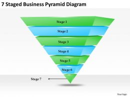 2013 Business Ppt Diagram 7 Satged Business Pyramid Diagram Powerpoint Template