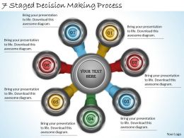 2013 Business Ppt Diagram 7 Staged Decison Making Process Powerpoint Template