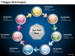 2013 Business Ppt Diagram 7 Stages Of A Project Powerpoint Template