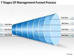 2013 Business Ppt Diagram 7 Stages Of Management Funnel Process Powerpoint Template