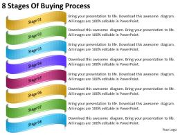 2013 Business Ppt Diagram 8 Stages Of Buying Process Powerpoint Template