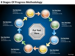 2013 Business Ppt Diagram 8 Stages Of Progress Methodology Powerpoint Template