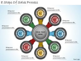 2013 Business Ppt Diagram 8 Steps Of Sales Process Powerpoint Template