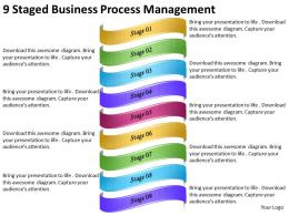 2013 Business Ppt Diagram 9 Staged Business Process Management Powerpoint Template