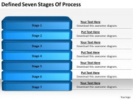 2013 Business Ppt Diagram Defined Seven Stages Of Process Powerpoint Template