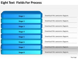 2013 Business Ppt Diagram Eight Text Fields For Process Powerpoint Template
