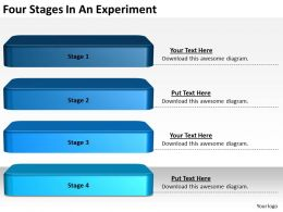 2013 Business Ppt Diagram Four Stages In An Experiment Powerpoint Template