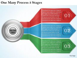 2013 Business Ppt Diagram One Many Process 3 Stages Powerpoint Template