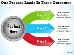2013 Business Ppt Diagram One Process Leads To Three Outcomes Powerpoint Template