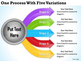 2013 Business Ppt Diagram One Process With Five Variations Powerpoint Template