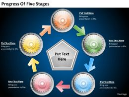 2013 Business Ppt Diagram Progress Of Five Stages Powerpoint Template
