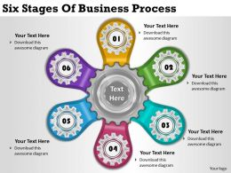 2013 Business Ppt Diagram Six Stages Of Business Process Powerpoint Template