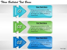 2013 Business Ppt Diagram Three Bulleted Text Boxes Powerpoint Template