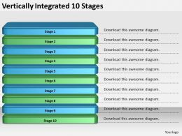 2013 Business Ppt Diagram Vertically Integrated 10 Stages Powerpoint Template
