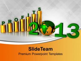 2013 Business Profit Graph Globe PowerPoint Templates PPT Themes And Graphics