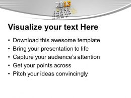 2013 Calendar Template PowerPoint Templates PPT Themes And Graphics 0113