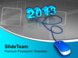 2013 Connected To Computer Mouse PowerPoint Templates PPT Backgrounds For Slides 0113