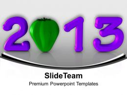 2013 In Purple With Green Capsicum PowerPoint Templates PPT Backgrounds For Slides 0113