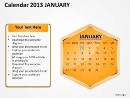 2013_january_calendar_powerpoint_slides_ppt_templates_Slide01