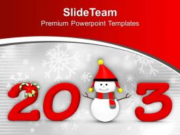 2013 New Year And Christmas Concept PowerPoint Templates PPT Themes And Graphics