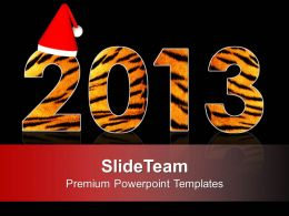 2013 New Year Concept And Christmas Theme PowerPoint Templates PPT Themes And Graphics