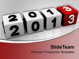 2013 New Year Cubes PowerPoint Templates PPT Backgrounds For Slides 0113