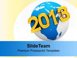2013 New Year On Earth Globe PowerPoint Templates PPT Backgrounds For Slides 0113