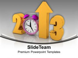 2013 With Alarm Clock Happy New Year Powerpoint Templates Ppt Themes And Graphics 0113