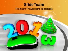 2013 With Computer Mouse Christmas Tree Powerpoint Templates Ppt Themes And Graphics 0113