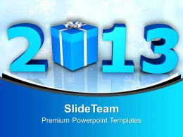 2013 With Gifts New Year Celebration PowerPoint Templates PPT Backgrounds For Slides 0113